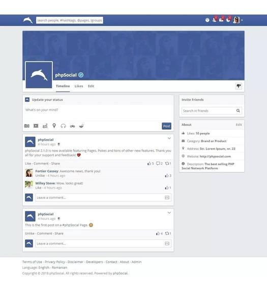 Script Rede Social Php - Em Português