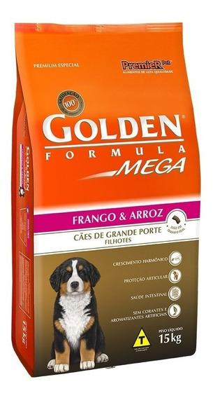 Ração Golden Mega Cães Filhotes Raças Grandes 15 Kg