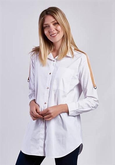 Camisa De Algodón Con Tiras En Los Hombros