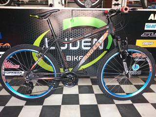 Bicicleta Rodado 26 Mtb Aluminio Con Suspensión Delantera