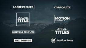 500 Títulos E Motion Graphic Templates - Premiere Pro 2019