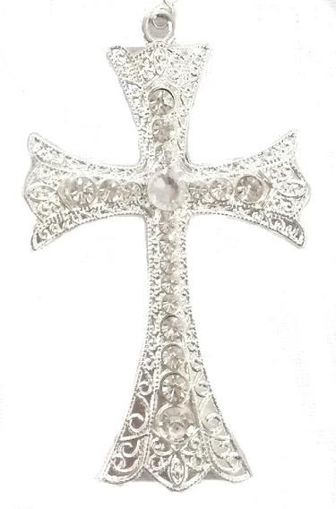 Crucifixo Cruz Para Terço De Noiva Banho Prata Vários Modelo