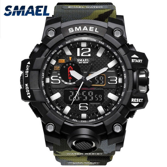 Relógio Masculino Militar Camuflado Smael + Brinde