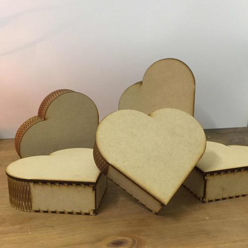 Caja Corazón Corte Laser 15x15x6 Regalo Enamorados