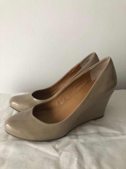 Zapatos Taco Chino Nude Nine West Talle 36