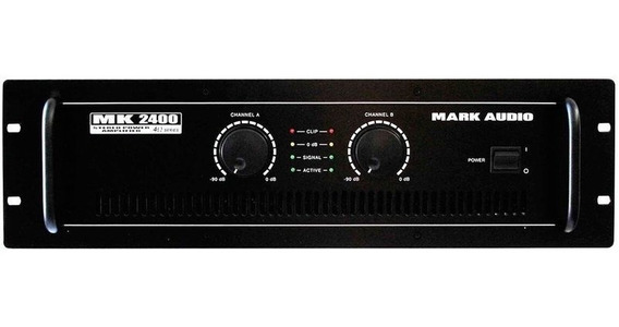 Amplificador Potência Mark Audio Mk 2400 400wrms Mk2400
