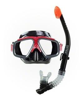 Gafas Y Snorkel - Buceo Colores(rojo-azul-violeta) -stock