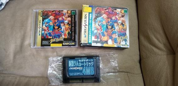Street Fighter Vs Original Japonês Sega Saturn.