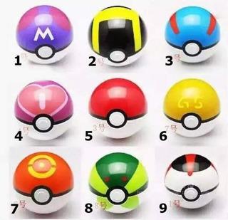 Pokemon Pokebola Con Muñeco Varios Colores