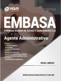 Livro Agente Administrativo - Concurso Embasa