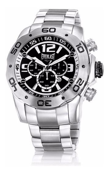Relógio Everlast Masculino Prata Cronógrafo - E549