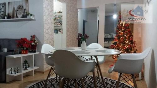 Imagem 1 de 22 de Lindo Apartamento Com Varanda Gourmet Em São Caetano - Ap0614