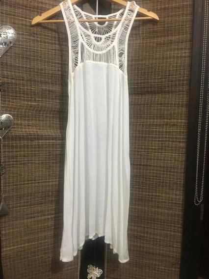 Vestido Mujer Blanco Hollister Top . Importado De Usa