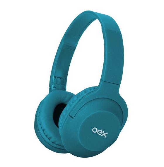 Headset Fone De Ouvido Hs207 Microfone Flow Dobrável Azul