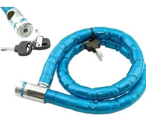 Cadena Candado Reforzada Anti Robo Moto Bicicleta 1,2mts ®
