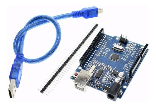 Imagen 1 de 3 de Arduino Uno R3 Atmega328p Ch340 +cable