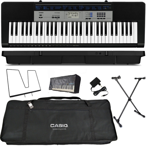Kit Teclado Musical 61t 5/8 Ctk-1550 Casio Completo F Grátis