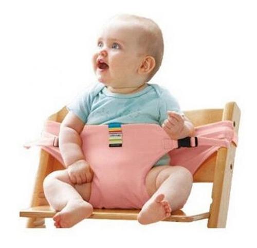 Cinturón De Seguridad Para Sillita De Comer De Bebé Rosa
