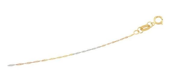 Cadena Singapur 3 Oros 45cm Oro 10k - 866