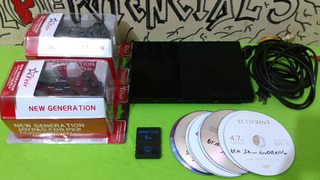 Playstation 2 Ps2 Slim 2 Controles 10 Jogos Memory Card