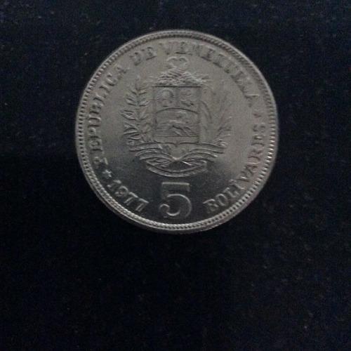 Moneda De 5 Bolívares 1977