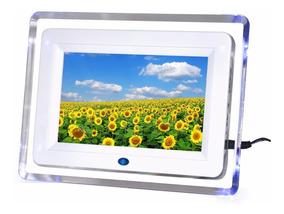 Porta Retrato Digital 7 Cartao P/drive Mp3 Foto Video C/luz