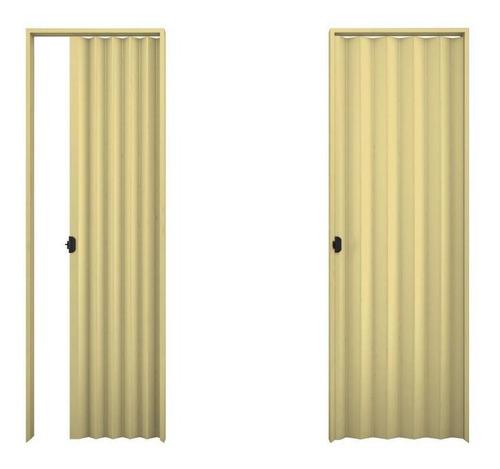 Porta Sanfonada Plasbil Branca 0,80cm X 210cm -areia