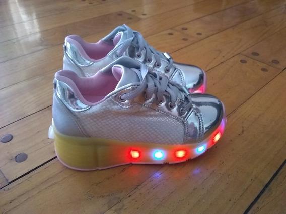 Zapatillas Con Luces Y Patines Niñas Pampili