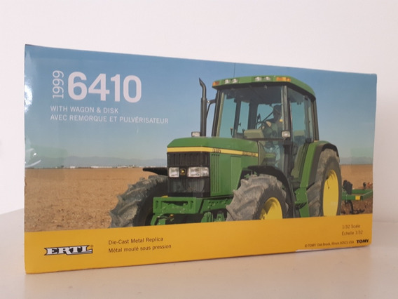 Miniatura Trator Agricola John Deere 6410 - Escala 1/32