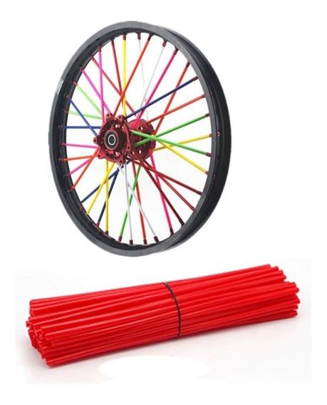Capa Para Raios De Motos E Bike Cor Vermelho Promoção