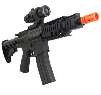 Marcadora Airsoft Electrica Bbs 6mm M4 Cqb Negra Xtreme