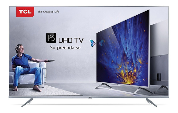 Smart Tv 4k Tcl 65 P6us Hdr wifi 3 Hdmi 2 Usb