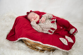 Saída Maternidade Vermelha Menina