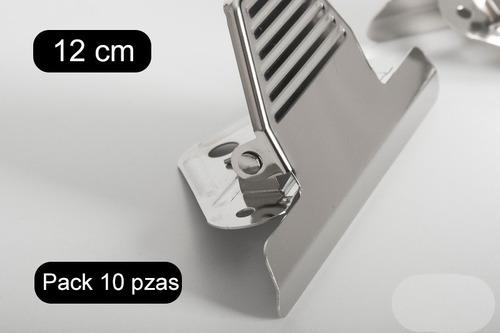Imagen 1 de 2 de Paquete De 10 Piezas Clip Sujeta-documentos Para Tabla 12cms