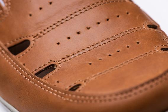 Sandalias Cuero Hombre Náuticas -renno Calzados -jerry Air