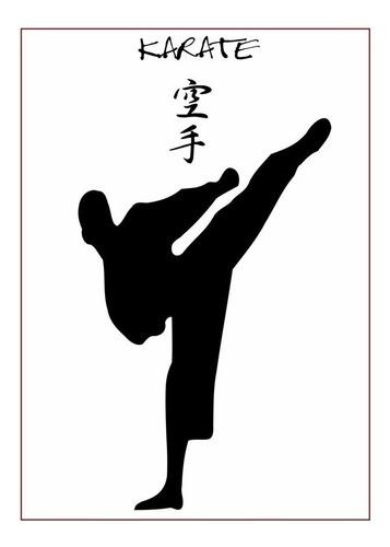 Poster Foto 60x84cm Decorar Academia Karatê Treinamento