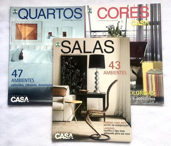 3 Revistas Especial Casa Claudia 57,58,59 Frete Grátis