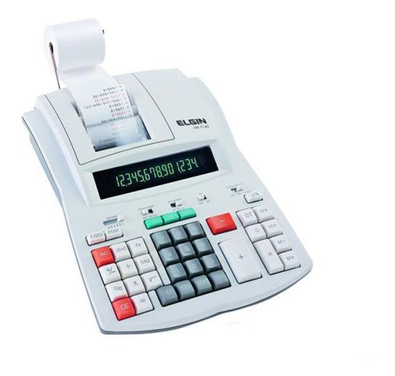 Calculadora De Mesa Elgin Mb-7140 (semi-nova) 14 Díg. 3,5lps