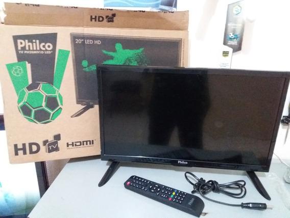 Tv Led Philco 20 Ph20m91d Nova C/ Tela Quebrada