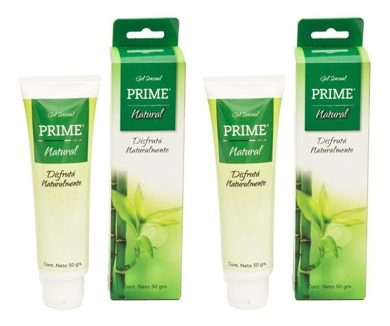 Gel Prime Natural X2 Lubricante Femenino 50gr Aloe Vera