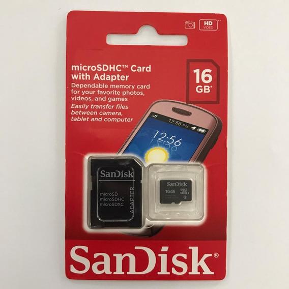Kit Com 10 Cartão De Memória 16gb Sandisk