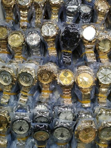 Relógio-kit Com 10 Relógios Masculinos Atacado Para Revenda