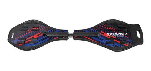 Rocking Skateboard Abs/pc-abec-7 Com 2 Rodas Ate 90 Kg