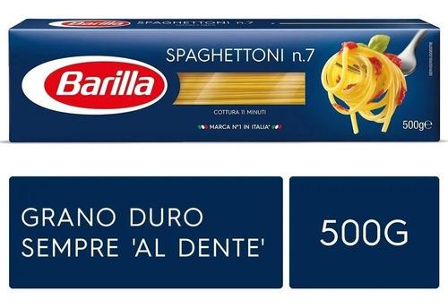 Imagen 1 de 2 de Fideos Italianos Pasta Barilla Spaghettoni 500g Env Gra Caba