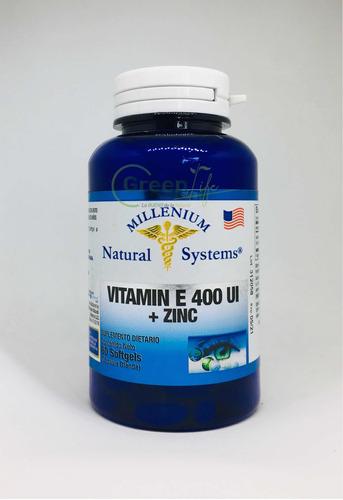 Vitamina E 400 Ui + Zinc X60 Softgels Natural Systems