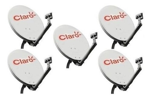 2 Antena Ku 60cm Logo Claro 2 Cabo 17mts Rg 59 Simples 2 Lnb