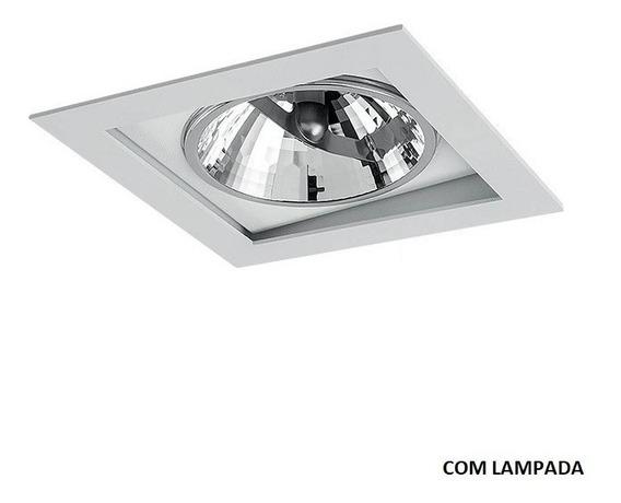 Spot Ar111 Recuado Aluminio Branco Led 14w Completo