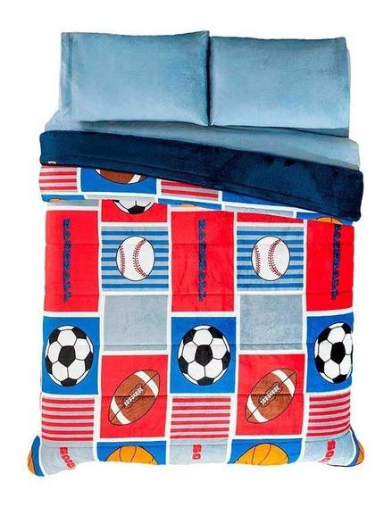 Cobertor Invernal Individual Deportivo Niño Vianney Envío