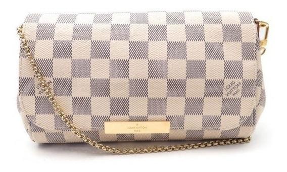 Bolsa Lous Vuitton Favorite Couro Damier Azur - Natal