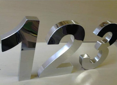 Letra 3d Em Aço Inox Polido (espelhado) C/ 20cm A Laser